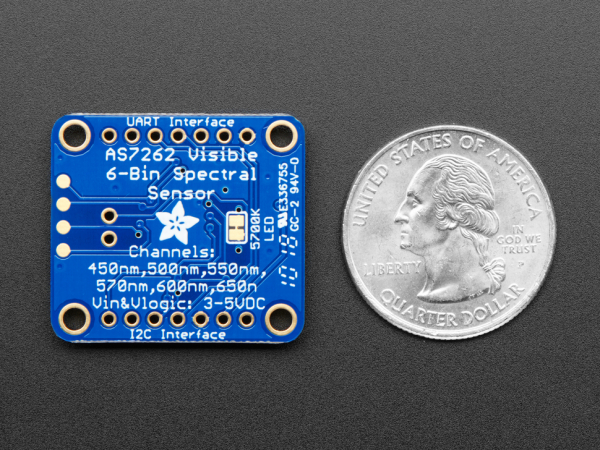 Breakout senzor de lumina/culoare de 6 canale Adafruit AS7262 3