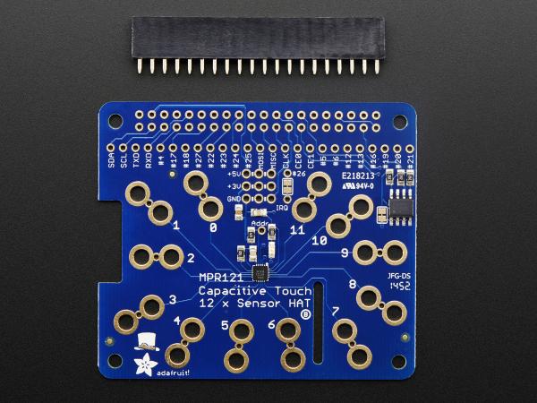 Capacitive Touch HAT pentru Raspberry Pi - Mini Kit - MPR121 1