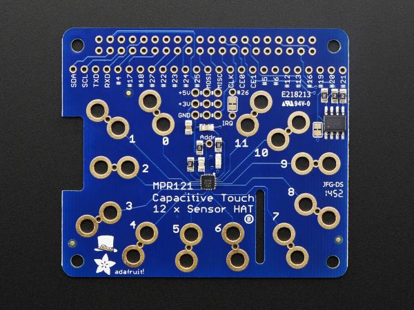 Capacitive Touch HAT pentru Raspberry Pi - Mini Kit - MPR121 0
