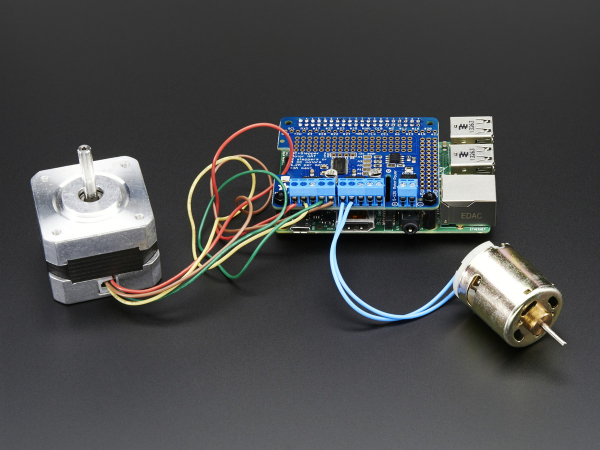 DC & Stepper Motor HAT pentru Raspberry Pi - Mini Kit 3
