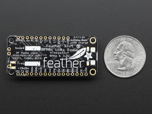 Feather 32u4 RFM96 Radio - 433MHz LoRa 4
