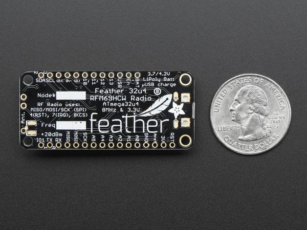 Feather 32u4 cu RFM69HCW Radio - 433MHz [4]