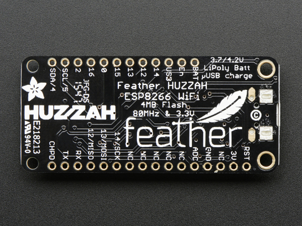 Feather HUZZAH cu ESP8266 WiFi 4