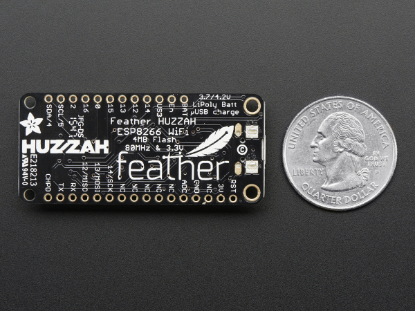 Feather HUZZAH cu ESP8266 WiFi 6