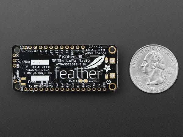 Feather M0 RFM95 Radio - 433MHz LoRA 3