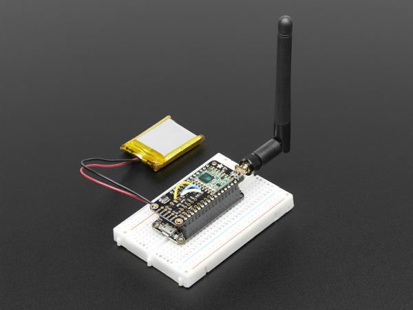 LoRa Radio FeatherWing - RFM95W 433 MHz 2