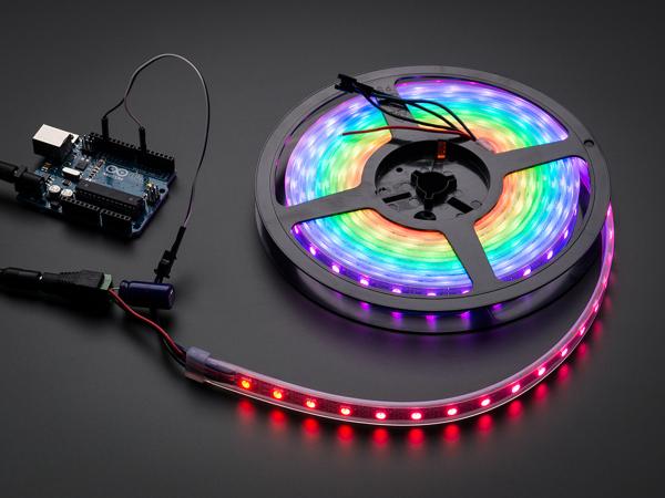 NeoPixel Digital RGB LED Strip - Negru 60 LED - Banda leduri - 1m [0]
