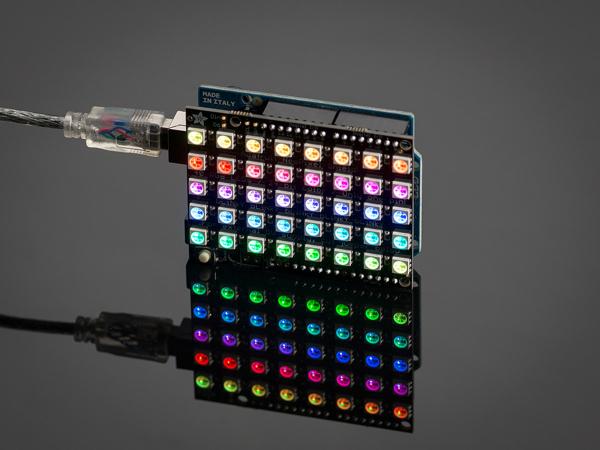 NeoPixel Shield - 40 RGB LED Matrice leduri 0