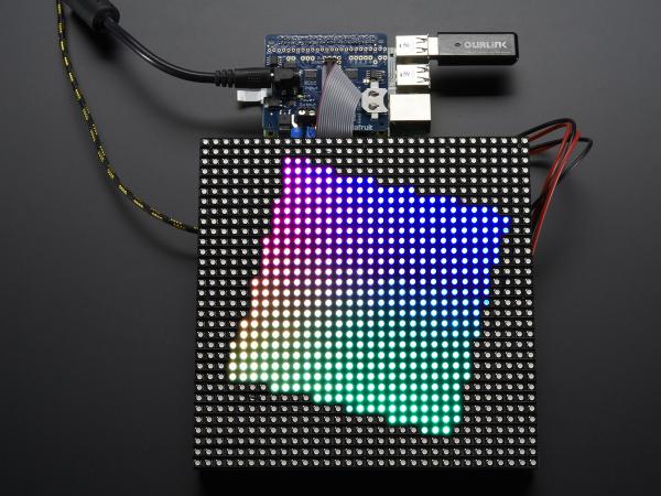 RGB Matrix HAT + RTC for Raspberry Pi - Mini Kit 0