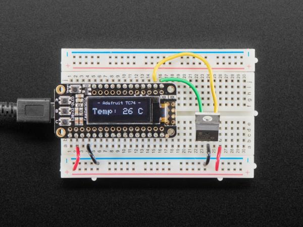 Adafruit TC74A0 senzor temperatura I2C 0