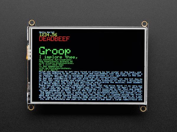 """Adafruit TFT FeatherWing - 3.5"""" 480x320 Touchscreen pentru placile  Feather [1]"""