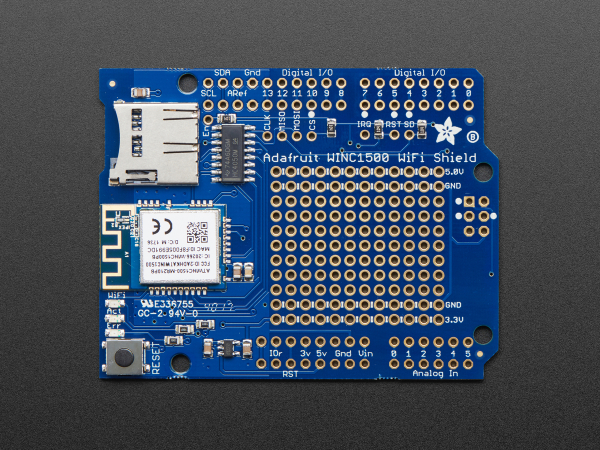 Adafruit WINC1500 WiFi Shield cu antena PCB 1
