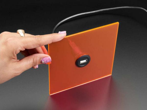 Adaptor jack USB A la jack micro USB B cu montaj la panou [0]