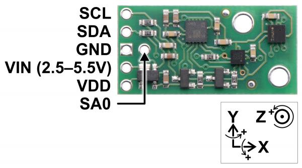 AltIMU-10 v5 Gyro, Accelerometru, Compas si Altimetru 2