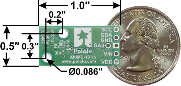 AltIMU-10 v5 Gyro, Accelerometru, Compas si Altimetru 1
