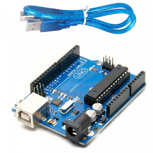 Arduino UNO R3 (ATmega328p) - Placa de Dezvoltare Compatibila cu Arduino IDE + Cablu USB [0]