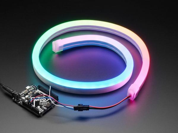 Banda LED NeoPixel RGB in tub de silicon 0