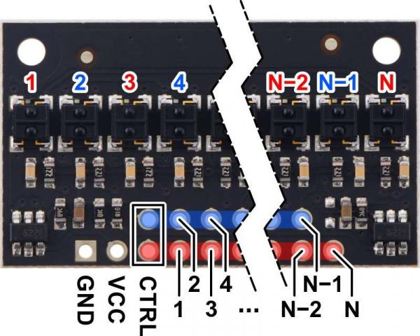 Bara senzori linie digitali 25 QTRX-HD-25RC 4