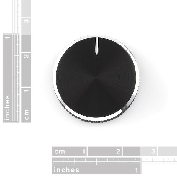 Black Metal Knob - 14x24mm [1]