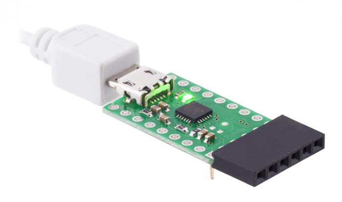 Breakout adaptor USB-la-serial Pololu CP2102N 3