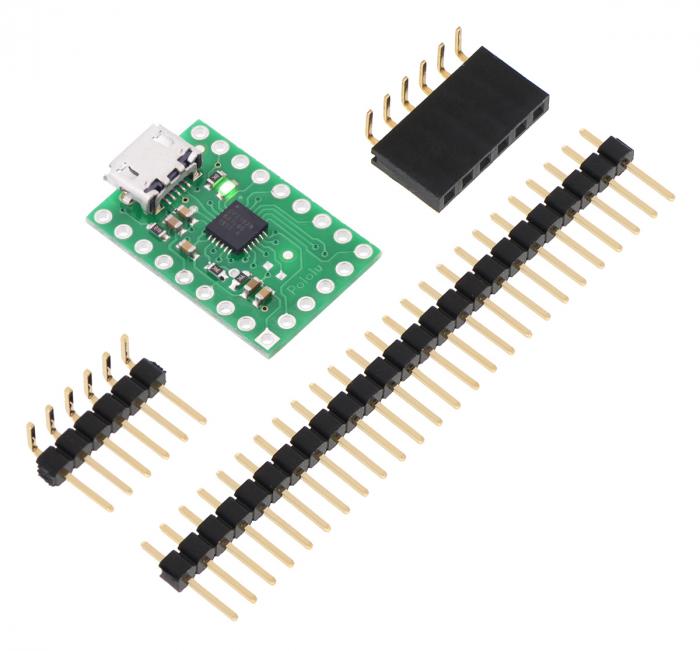 Breakout adaptor USB-la-serial Pololu CP2102N 1
