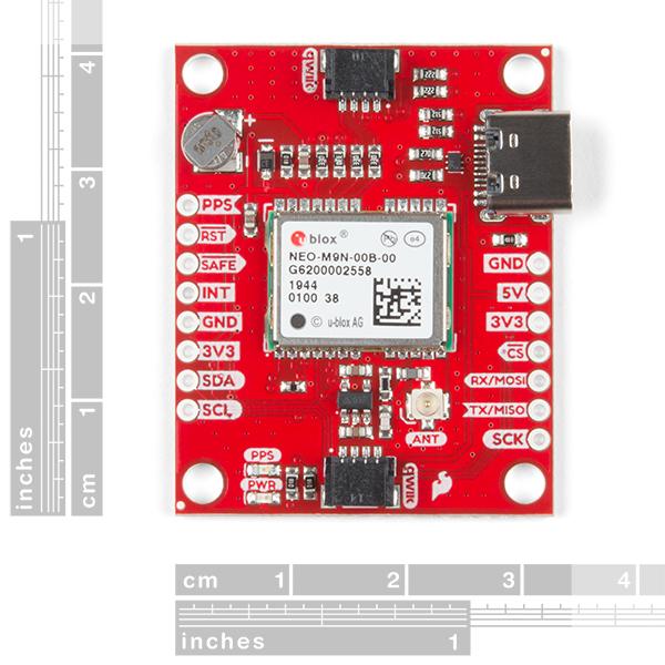 Breakout GPS SparkFun NEO-M9N, U.FL (Qwiic) 1