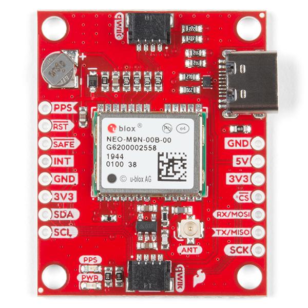 Breakout GPS SparkFun NEO-M9N, U.FL (Qwiic) 3