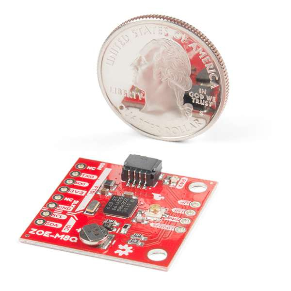 Breakout GPS SparkFun ZOE-M8Q (Qwiic) 3