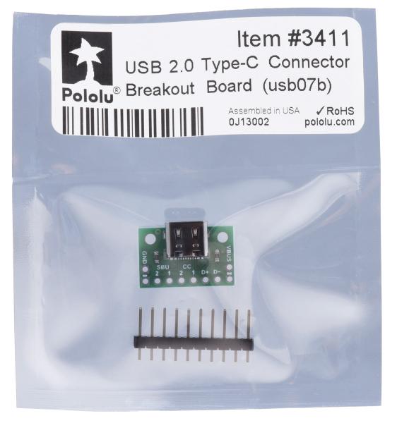 Breakout Pololu conector USB 2.0 tip-C 4
