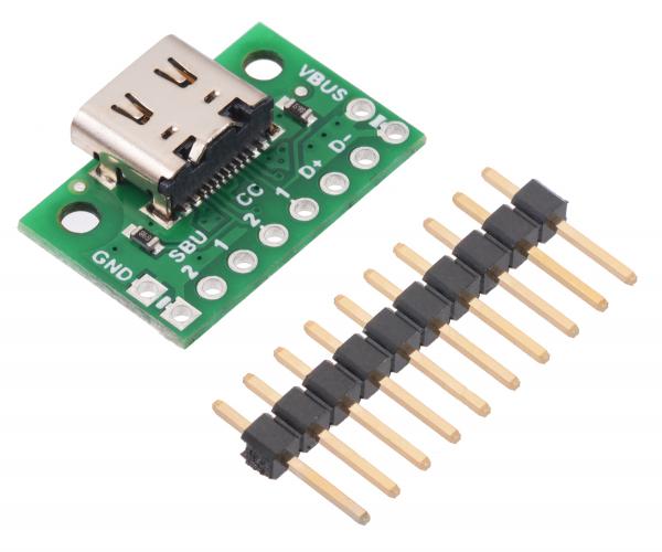 Breakout Pololu conector USB 2.0 tip-C 0
