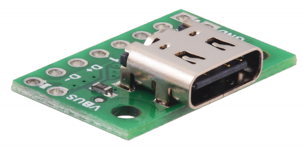 Breakout Pololu conector USB 2.0 tip-C 1