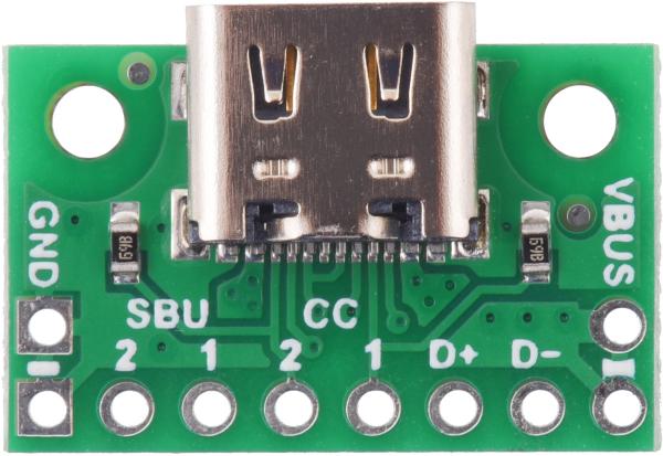 Breakout Pololu conector USB 2.0 tip-C 2