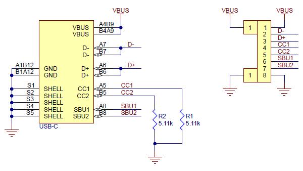 Breakout Pololu conector USB 2.0 tip-C 5