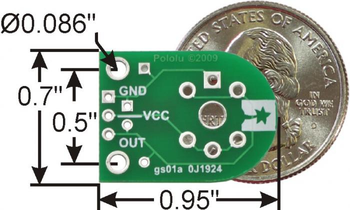 Breakout Pololu pentru senzorii de gaz MQ (doar placa PCB) 1