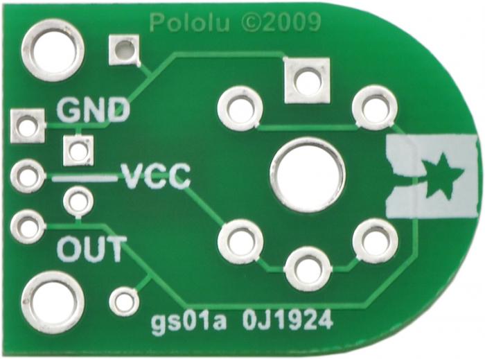 Breakout Pololu pentru senzorii de gaz MQ (doar placa PCB) 5