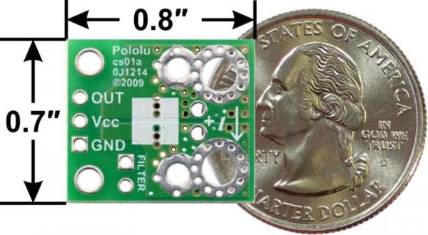 Breakout senzor curent Pololu ACHS-7121 -10A/+10A 4