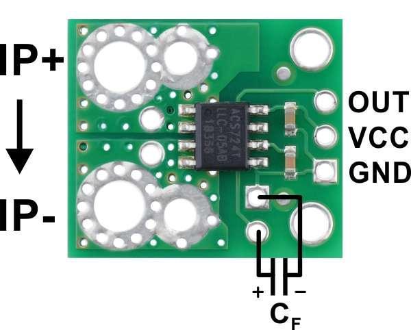Breakout senzor de curent  ACS724 0A/+30A 2
