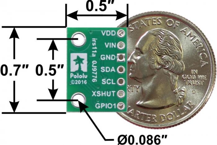 Breakout senzor de distanta Pololu VL53L1X ToF cu stabilizator [4]