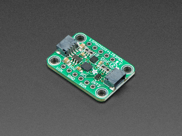 Breakout senzori Adafruit LSM6DSOX + LIS3MDL 0
