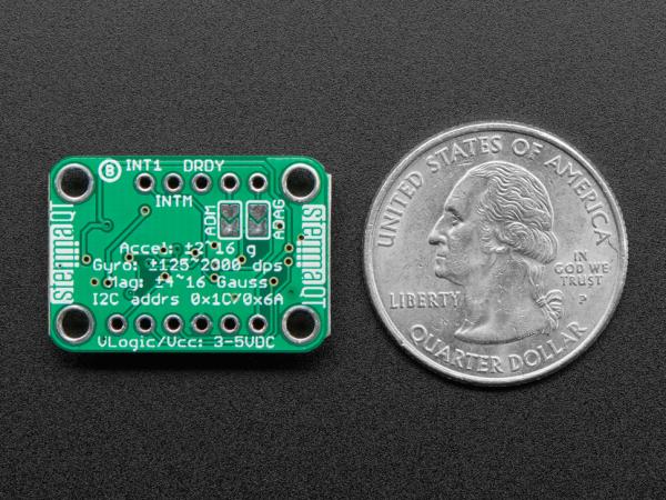 Breakout senzori Adafruit LSM6DSOX + LIS3MDL 2