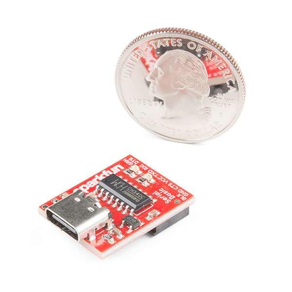 Breakout serial SparkFun cu CH340C si USB-C 3
