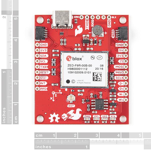 Breakout SparkFun calcul mort GPS-RTK ZED-F9R (Qwiic) [1]
