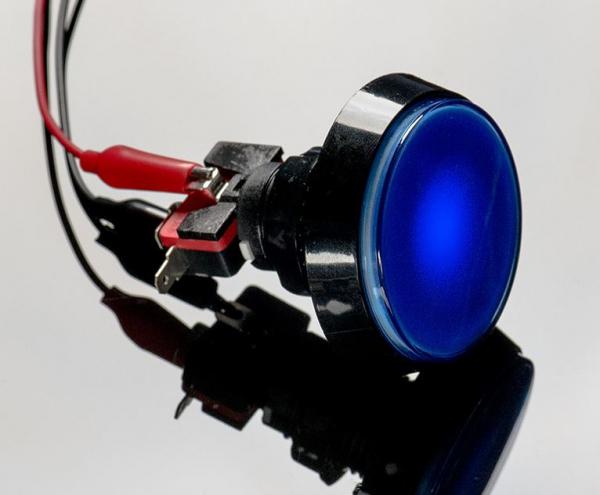 Buton Arcade cu LED albastru - 60mm 1