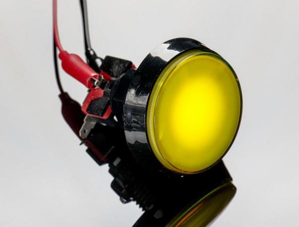 Buton Arcade cu LED galben - 60mm 1