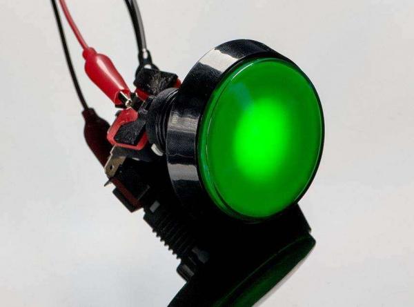 Buton Arcade cu LED verde - 60mm 1