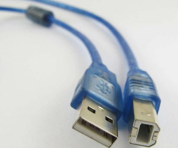 Cablu imprimanta USB 2.0 - albastru [1]