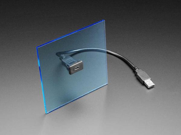 Cablu cu montaj in panou - Soclu USB C la priza USB A [0]