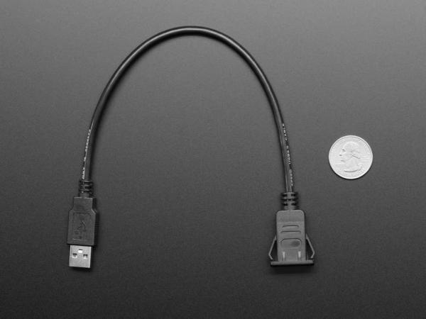 Cablu cu montaj in panou - Soclu USB C la priza USB A [4]