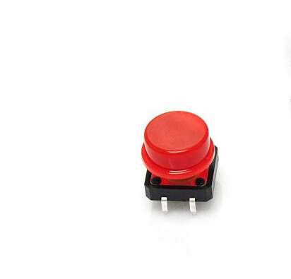 Capac rosu pentru buton de 6 x 6 x 7.3mm 0