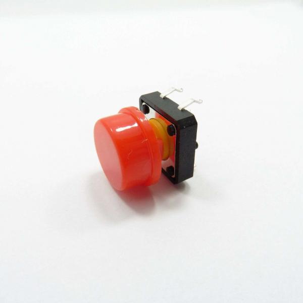 Capac rosu pentru buton de 6 x 6 x 7.3mm 1